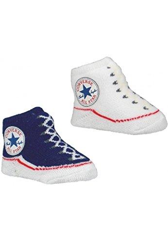 Converse Pack de 2 calcetines con botines, azul (azul marino), 0-6 ...